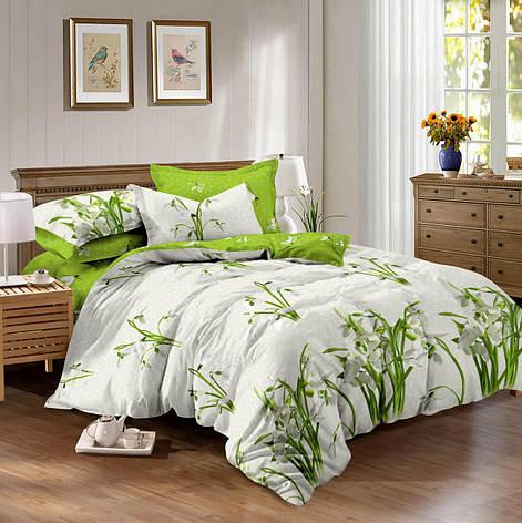 Двуспальный комплект постельного белья 180*220 сатин (10072) TM КРИСПОЛ Украина, фото 2