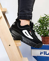 Женские кроссовки в стиле FILA Disruptor Black (36, 38, 39, 40, 41 размеры), фото 3