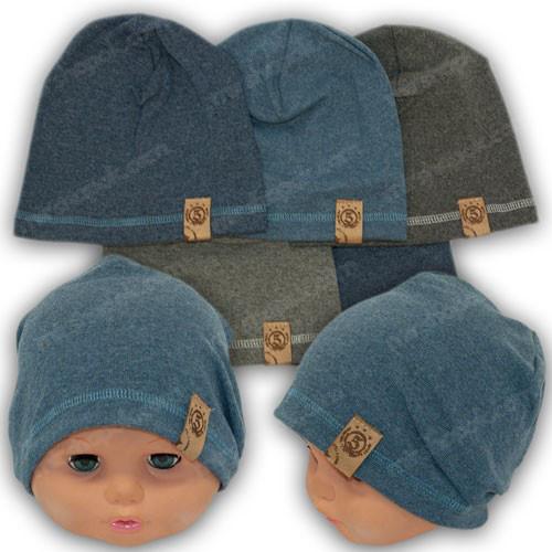 Трикотажная шапка для мальчика, р. 48-50