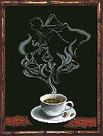 Наборы для вышивания нитками на канве Кофейная Фантазия - Весы1 КИТ 50813