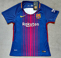 Женская футболка Барселона  2017-2018 гранатовый