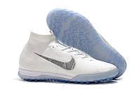 Сороконожки Nike MercurialX Vapor XII Elite TF white