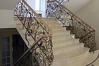 Кованые перила для лестницы, авторские работы.