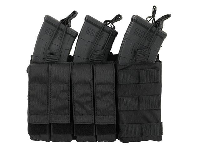 Тройной подсумок пистолетно-винтовочный AK/9MM (4 PLUS 4)- BLACK [8FIELDS] (для страйкбола)