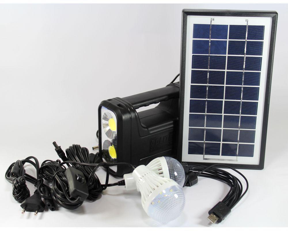 Фонарь аккумулятор с солнечной батареей панель GD Lite 8038, фонарь фара, светодиодный фонарь