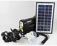 Фонарь аккумулятор с солнечной батареей панель GD Lite 8038, фонарь фара, светодиодный фонарь, фото 1