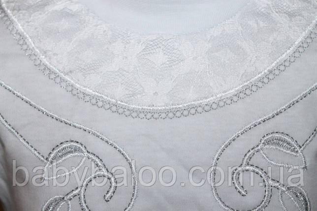 Стойка длинный рукав вышивка гипюр верх(от 7 до 10 лет) , фото 2