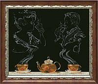 Наборы для вышивания нитками на канве Чайная фантазия 1 КИТ 50513