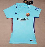 Женская футболка Барселона  2017-2018 голубая