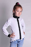 Трикотажная школьная блуза детская (6-15 лет)