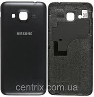 Задняя крышка для Samsung J320H Galaxy J3 (2016), черная, оригинал