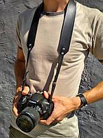 Нашейный, плечевой ремень для фотоаппарата из кожи ручная работа, фото 1