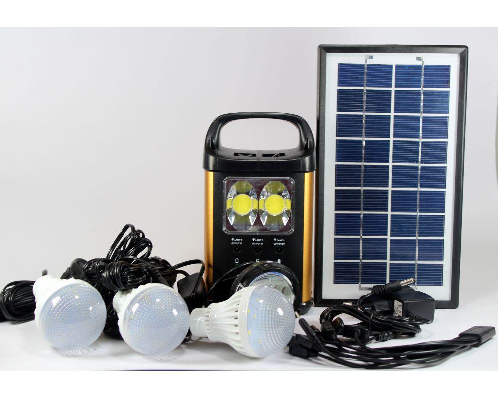 Фонарь аккумулятор с солнечной батареей панель GD Lite 8131, фонарь фара, светодиодный фонарь