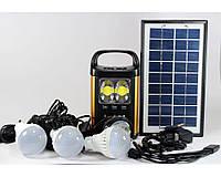 Фонарь аккумулятор с солнечной батареей панель GD Lite 8131, фонарь фара, светодиодный фонарь, фото 1