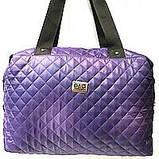 Стеганные сумки (фиолет стёганный)30*38, фото 3