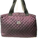Стеганные сумки (фиолет стёганный)30*38, фото 4
