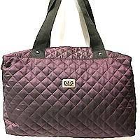 Стеганные сумки (бордо стёганный)30*38, фото 1