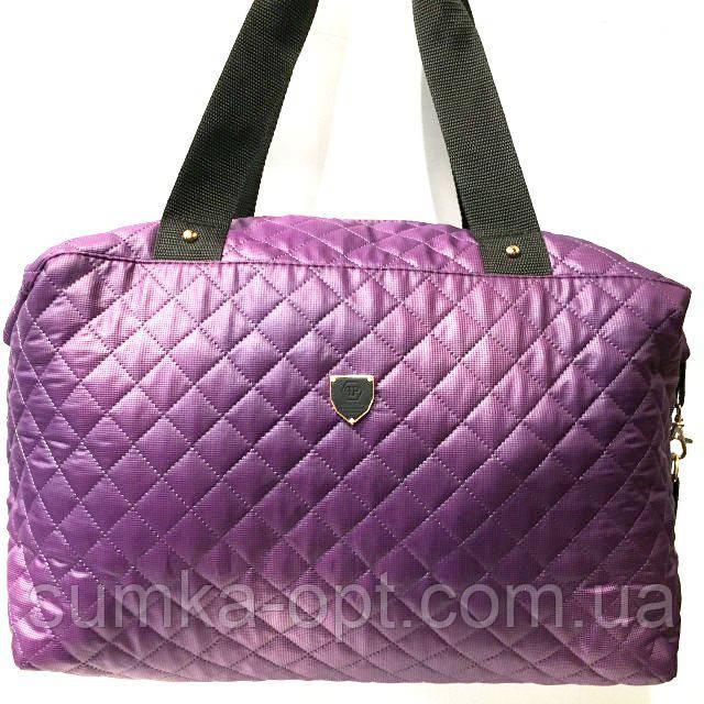 Стеганные сумки (фиолет стёганный)30*38