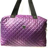 Стеганные сумки (бордо стёганный)30*38, фото 4