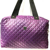 Стеганные сумки (фиолет стёганный)30*38, фото 1