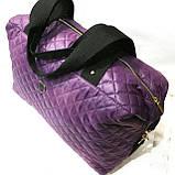 Стеганные сумки (фиолет стёганный)30*38, фото 5