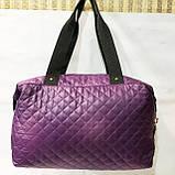 Стеганные сумки (фиолет стёганный)30*38, фото 6
