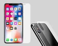 Комплект защитное противоударных стекол (экран + задняя панель) для iPhone X Прозрачное, фото 1