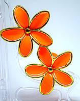 Заколки для волос оранжевые пара, фото 1