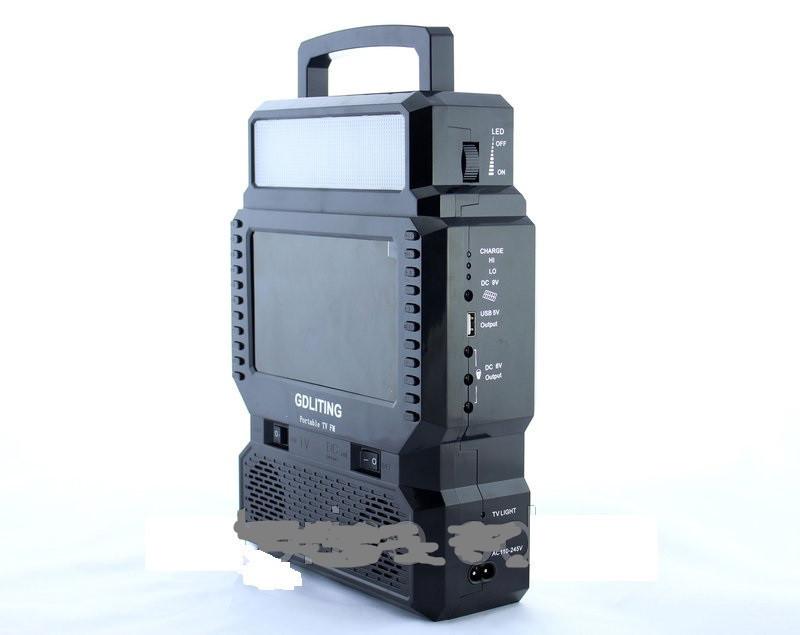 Фонарь аккумулятор с солнечной батареей панель GD Lite 8086, фонарь фара, светодиодный фонарь