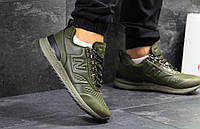 Зеленые мужские кроссовки New Balance Trailbuster демисезонные кожаные кросовки в стиле нью беленс оливковые
