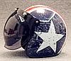 Ретро шлем полулицевик звезда с бабл визором , фото 6