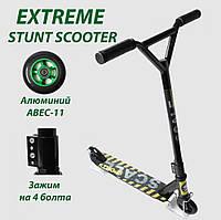 Трюковой самокат Scale Sports Extrem Abec-11 черный