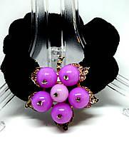 Резинка для волос фиолетовый  цветок