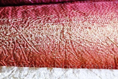 Жатка парча (портьерная ткань) терракотовый