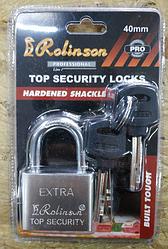 Замок навесной Rolinson EXTRA 40мм, 4 ключа, в блистерной упаковке