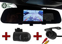 2 камеры Видеорегистратор-зеркало 3,6 дюйма Blackbox dvr mirror vehicle Full HD заднего вида