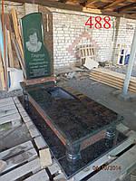 Памятник комбинированый из капустянського гранита и лабрадорита, фото 1