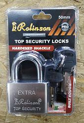 Замок навесной Rolinson EXTRA 50мм, 4 ключа, в блистерной упаковке