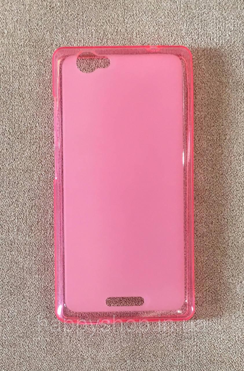 Силиконовый чехол-накладка для Fly IQ4501 (Розовый)