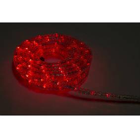 Дюралайт  Гофрированный С контроллером Красный 10метров