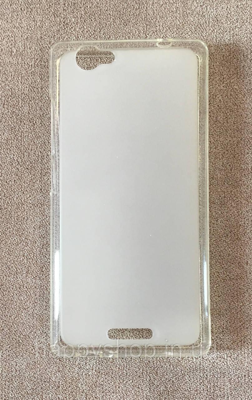 Силиконовый чехол-накладка для Fly IQ4501 (Белый)