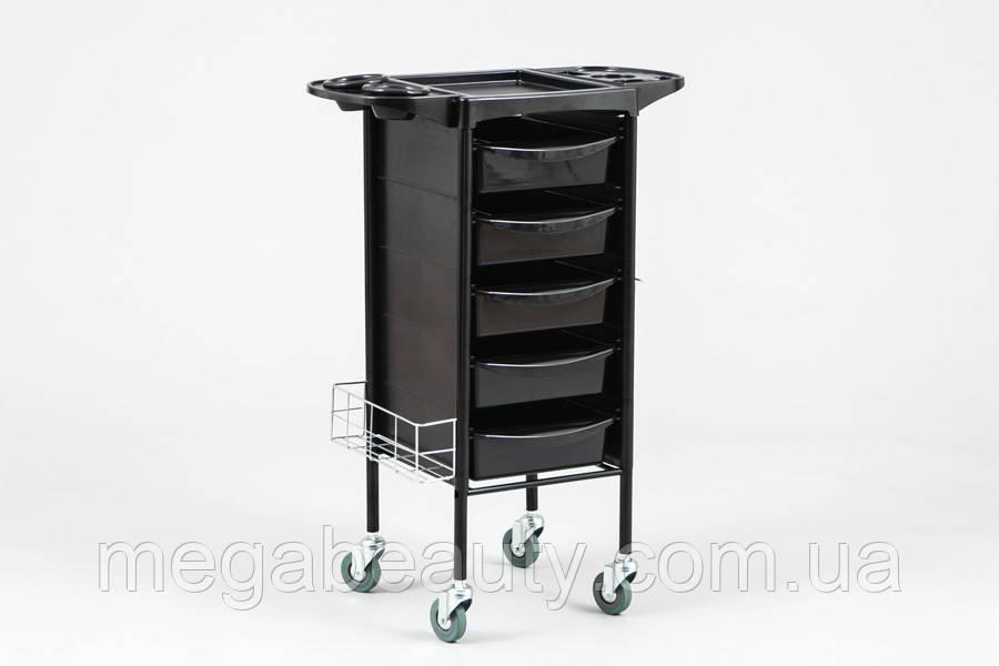Парикмахерская тележка М-3013В, цвет чёрный
