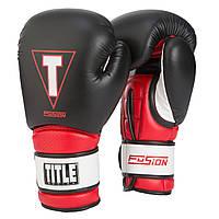 Оригинальные Боксерские Перчатки Title Fusion Tech Training Gloves - Black/Red