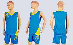 Форма баскетбольная подростковая Pace LD-8081T-5 (PL, р-р S, M, L, 115, 120, рост 125-165, голубой-желтый)