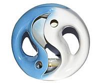 Аромалампа керамическая, Бело-голубая, h 12 см