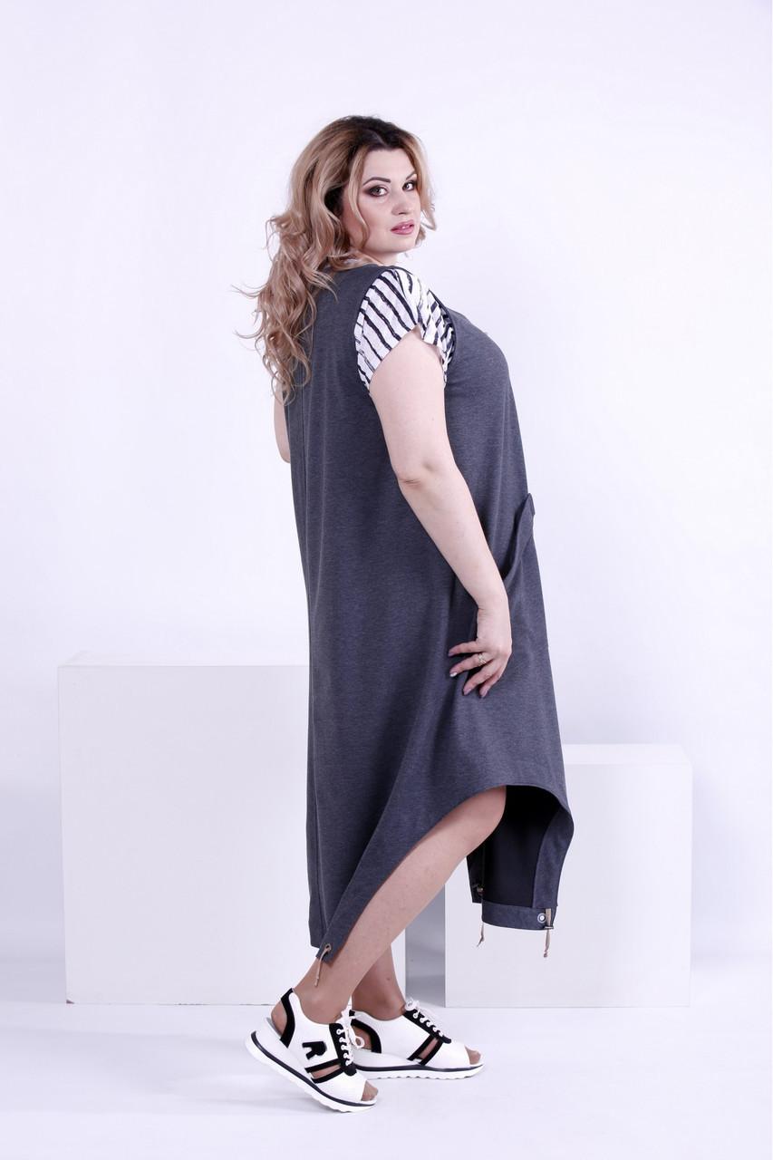 febb66319ce Женское платье свободного покроя (футболка отдельно) 0879   размер 42-74    большие ...