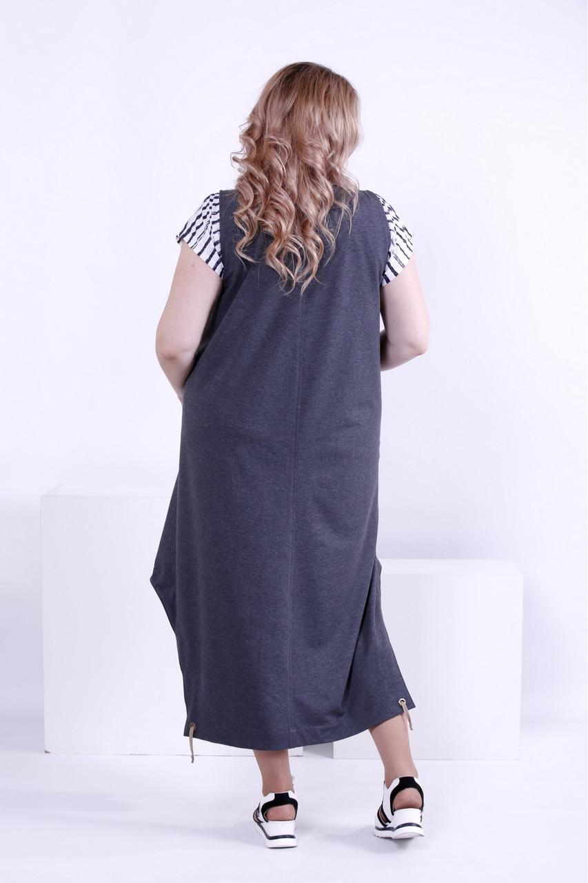 f49b055231d ... Женское платье свободного покроя (футболка отдельно) 0879   размер  42-74   большие