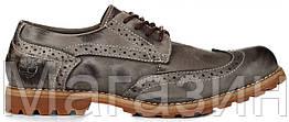 Мужские туфли Timberland Earthkeepers Oxford Grey (Тимберленд) серые