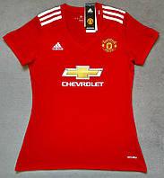Женская футболка Манчестер Юнайтед  2017-2018 красная