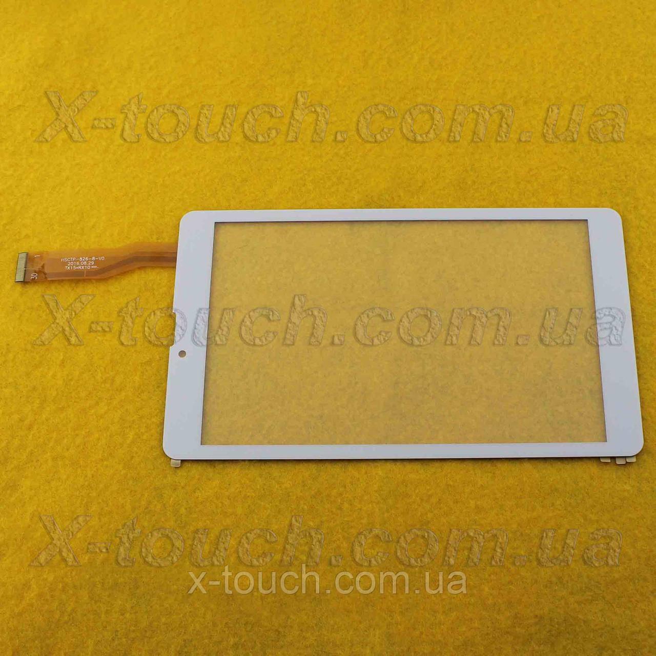 Тачскрін, сенсор HSCTP-826-8-V0 для планшета, білого кольору